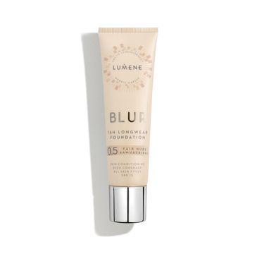 Lumene Blur – 16h Longwear Foundation SPF15 wygładzający podkład do twarzy 0.5 Fair Nude (30 ml)
