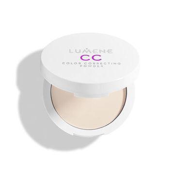 Lumene CC Color Correcting Powder prasowany puder korygująco-utrwalający Light/Medium (10 g)