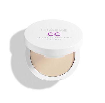 Lumene CC Color Correcting Powder prasowany puder korygująco-utrwalający Medium/Dark (10 g)