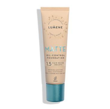 Lumene Matte Oil-Control Foundation podkład matujący 1.5 Fair Beige (30 ml)