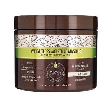 Macadamia Professional Weightless Moisture Masque nawilżająca maska do włosów cienkich 222ml