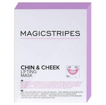 Magicstripes Chin & Cheek Lifting Mask maseczka liftingująca podbródek i policzki 5szt