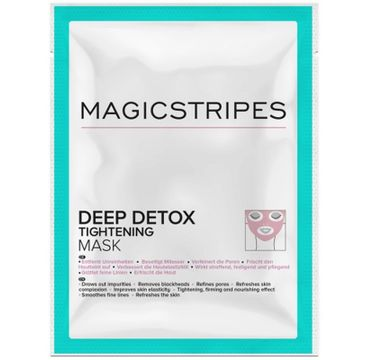 Magicstripes Deep Detox Tightening Mask detoksykująco-napinająca maseczka do twarzy 1szt