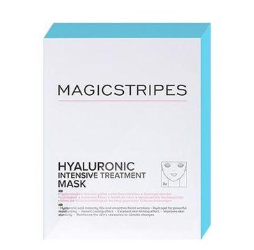 Magicstripes Hyaluronic Intensive Treatment Mask maska do twarzy kuracja hialuronowa 3szt