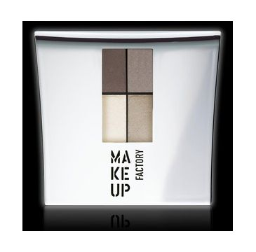 Make Up Factory Eye Colors Quatro zestaw czterech cieni 07 Stoney Wood 4,2g