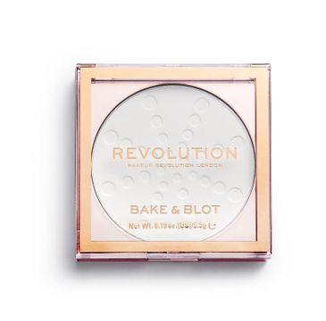 Makeup Revolution Bake & Blot – prasowany puder matujący (1 szt.)