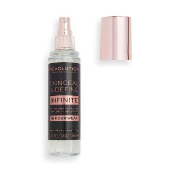 Makeup Revolution – Conceal & Define Infinite spray utrwalający makijaż z matowym wykończeniem (100 ml)