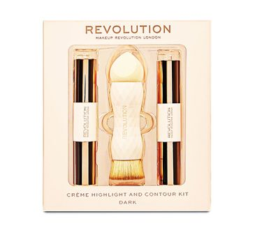 Makeup Revolution Creme Highlight and Contour Kit – zestaw do konturowania twarzy Dark (1 szt.)