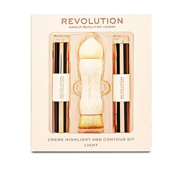 Makeup Revolution Creme Highlight and Contour Kit – zestaw do konturowania twarzy Light (1 szt.)