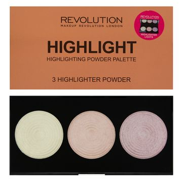 Makeup Revolution Highlighter Palette Highlight – rozświetlacze do twarzy (15 g)