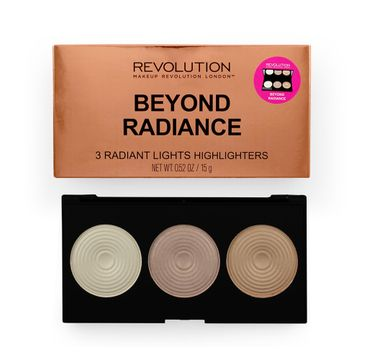 Makeup Revolution Highlighter Palette Radiance – rozświetlacze do twarzy (15 g)
