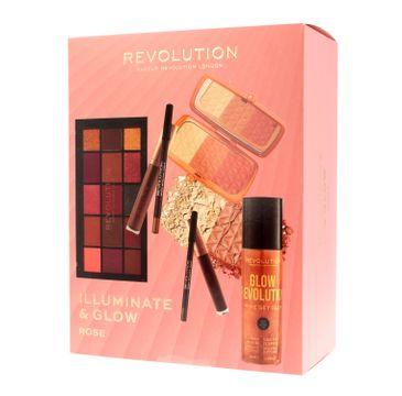 Makeup Revolution Illuminate & Glow Zestaw kosmetyków do makijażu Rose (1 szt.)