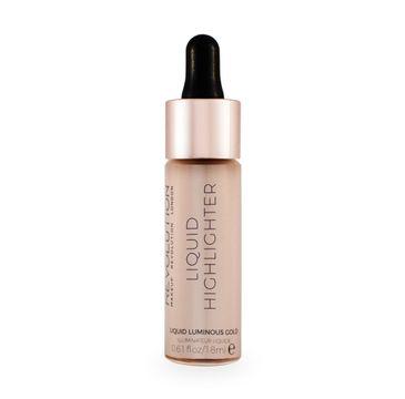 Makeup Revolution Liquid Highlighter – rozświetlacz w płynie Champagne (18 ml)