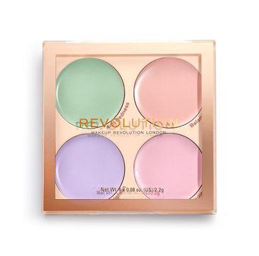 Makeup Revolution – Paleta kolorowych korektorów Matte Base Correcor Kit