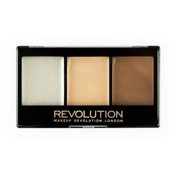 Makeup Revolution Ultra Cream Contour Kit – paletka do konturowania twarzy Lightening F01 (1 szt.)