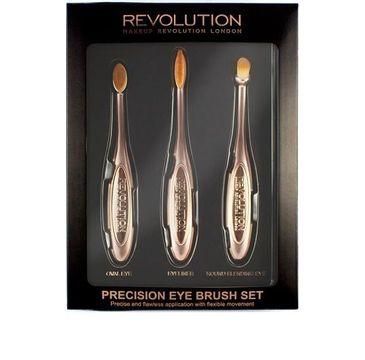 Makeup Revolution Precision Eye Set – zestaw szczotek do makijażu oczu (1 op.)