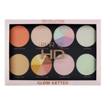 Makeup Revolution Pro HD Palette Glow Getter – paleta rozświetlaczy (32 g)