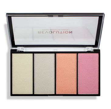 Makeup Revolution Re-Loaded Lustre – paleta rozświetlaczy Lights Cool (1 szt.)
