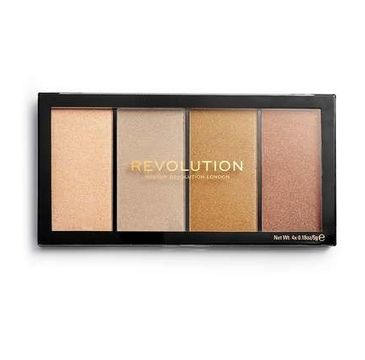 Makeup Revolution Re-Loaded Lustre – paleta rozświetlaczy Lights Heatwave (1 szt.)