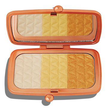 Makeup Revolution Renaissance Illuminate – paleta rozświetlaczy do twarzy Gleaming Gold (1 szt.)