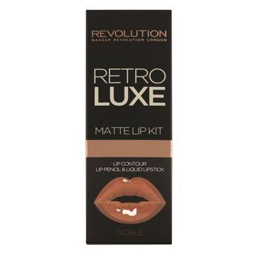 Makeup Revolution Retro Luxe Kits Matte – zestaw  do makijażu ust Noble konturówka + błyszczyk (1 op.)