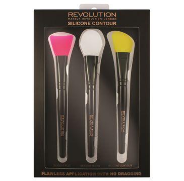 Makeup Revolution Silicone Contour - zestaw pędzli silikonowych do konturowania (1 op.)