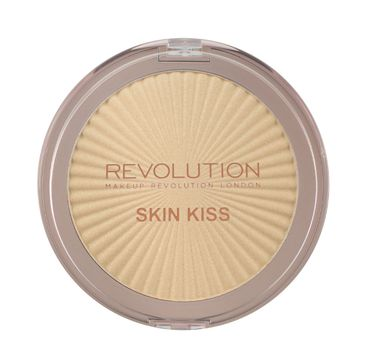 Makeup Revolution Skin Kiss - rozświetlacz do twarzy Golden Kiss (14 g)