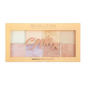 Makeup Revolution Soph X Highlighter Palette - zestaw rozświetlaczy do twarzy (1 op.)