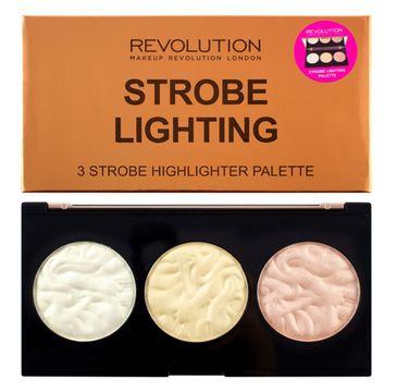Makeup Revolution Strobe Lighting Palette - zestaw rozświetlaczy do twarzy (15 g)