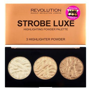 Makeup Revolution Strobe Luxe Palette - zestaw rozświetlaczy (1 szt.)