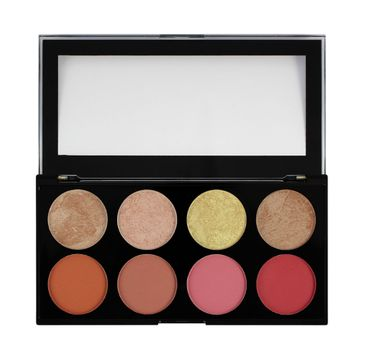 Makeup Revolution Ultra Blush Palette 8 - zestaw róży do policzków Blush Goddess (13 g)