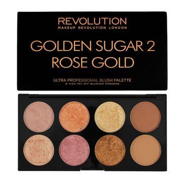 Makeup Revolution Ultra Blush Palette 8 - zestaw do konturowania twarzy Golden Sugar 2 Rose Gold (13 g)