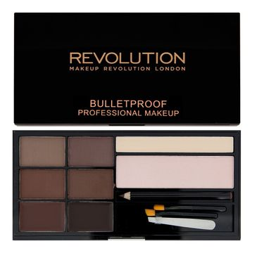 Makeup Revolution Ultra Brow Medium to Dark - zestaw do stylizacji brwi (1 op.)