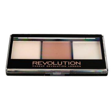 Makeup Revolution Ultra Contour Kit - zestaw do konturowania twarzy Lithening Contour 02 (1 szt.)