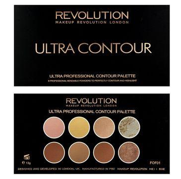 Makeup Revolution Ultra Contour Palette - zestaw do modelowania twarzy (13 g)