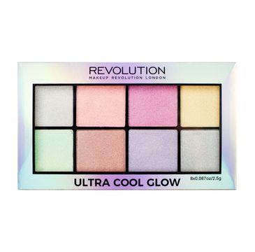 Makeup Revolution Ultra Cool Glow Palette - zestaw rozświetlaczy (1 szt.)