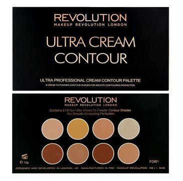 Makeup Revolution Ultra Cream Contour Palette - zestaw do modelowania twarzy (13 g)