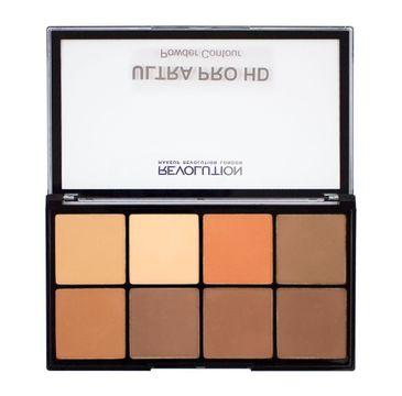 Makeup Revolution Ultra Pro HD Powder Contour -  zestaw pudrów prasowanych do twarzy Medium Dark (20 g)