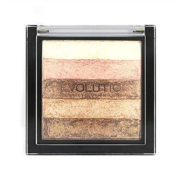 Makeup Revolution Vivid Shimmer Brick Radiant - paletka bronzerów i rozświetlaczy (7 g)