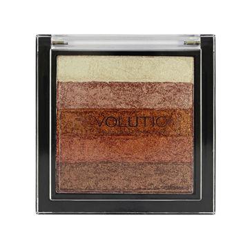 Makeup Revolution Vivid Shimmer Brick Rose Gold - paletka bronzerów i rozświetlaczy (7 g)