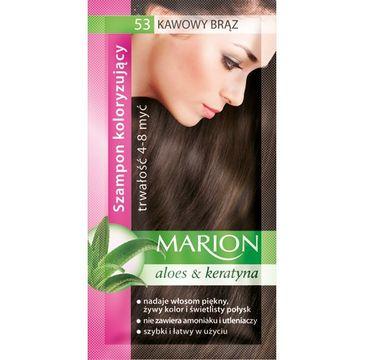 Marion Aloes & Keratyna – szampon koloryzujący do włosów nr 53 Kawowy Brąz (40 ml)