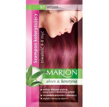 Marion Aloes & Keratyna – szampon koloryzujący do włosów nr 97 Wiśnia (80 ml)
