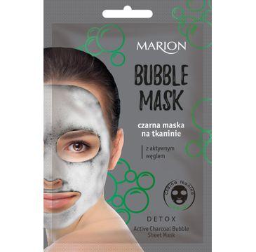 Marion Bubble Mask – czarna maska na tkaninie z aktywnym węglem (1 szt.)
