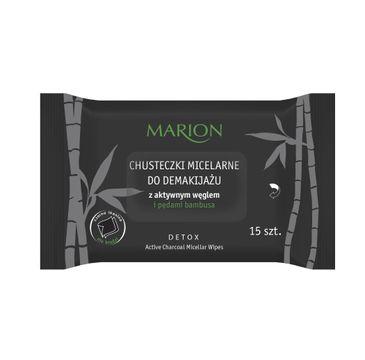 Marion Detox – chusteczki micelarne do demakijażu z aktywnym węglem i pędami bambusa (1 op.)