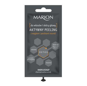 Marion – aktywny peeling do włosów i skóry głowy z węglem i pestkami moreli (15 g)