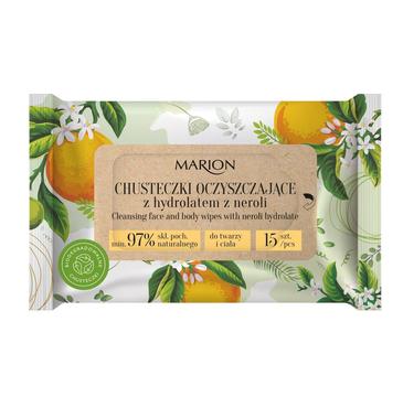 Marion Chusteczki oczyszczające do twarzy i ciała z hydrolatem z Neroli (1op.-15szt)