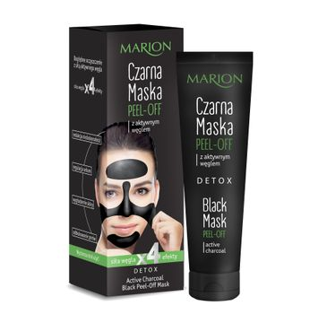 Marion Detox – czarna maska peel-off  z aktywnym węglem (25 g)