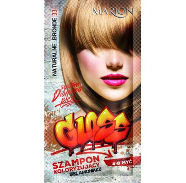 Marion Gloss – szampon koloryzujący nr 33 Naturalny Blond (40 ml)