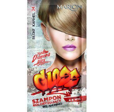 Marion Gloss – szampon koloryzujący nr 34 Słony Karmel (40 ml)