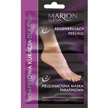 Marion Spa – peeling i maska – parafinowa kuracja do stóp (6,5 g + 6 ml)